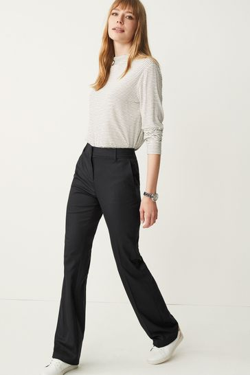 Navy Tailored Boot Cut Trousers