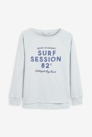 Blue Surf Session Graphic Sweatshirt