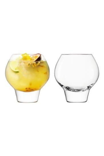 Set of 2 LSA International Rum Balloon Tumbler Glasses