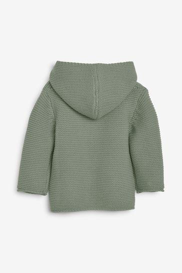 Khaki Hooded Cardigan (0mths-3yrs)