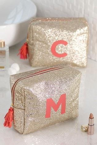 Glitter Alphabet Make-Up Bag