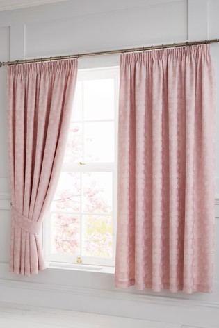 Blossom Pencil Pleat Curtains by Serene