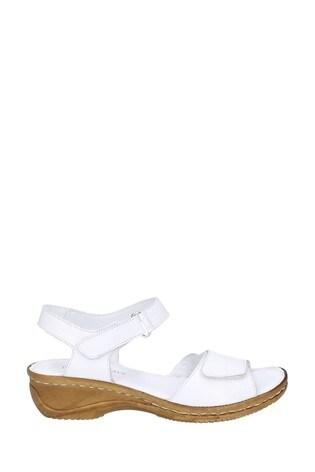 Fleet & Foster White Linden Touch Fastening Sandals