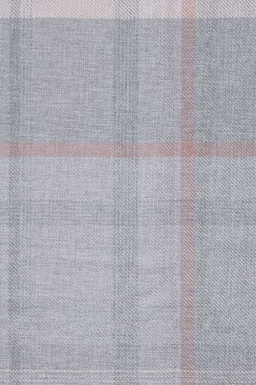 Marlow Check Grey/Pink Made To Measure Roman Blind