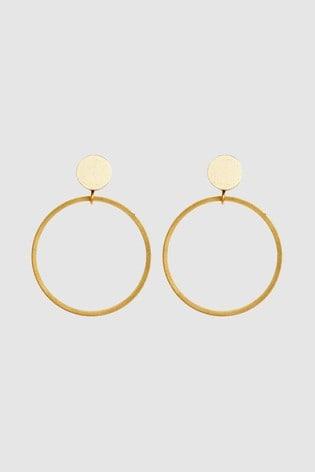 Mix/Wolf & Moon Dot Hoop Stud Earrings