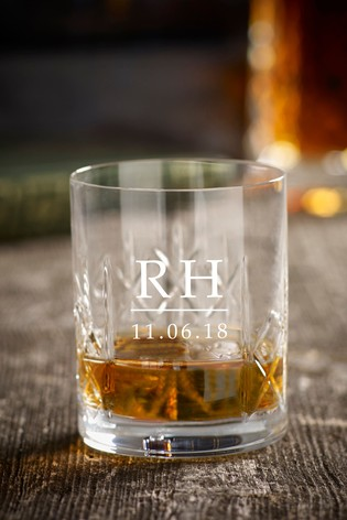 Personalised Crystal Whisky Glass by Loveabode