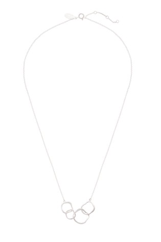 Oliver Bonas Sterling Silver Ellie Textured Organic Rings Necklace