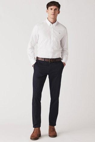 Crew Clothing Company Blue Slim Chino
