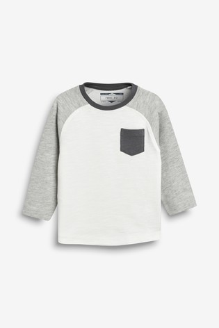 Black/Grey Long Sleeve Cosy T-Shirts Three Pack (3mths-7yrs)