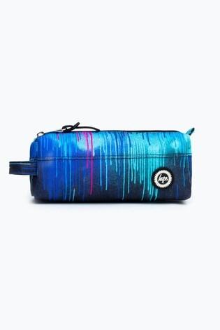Hype. Blue Neon Drips Print Pencil Case