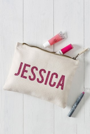 Personalised Glitter Cosmetic Bag by Loveabode
