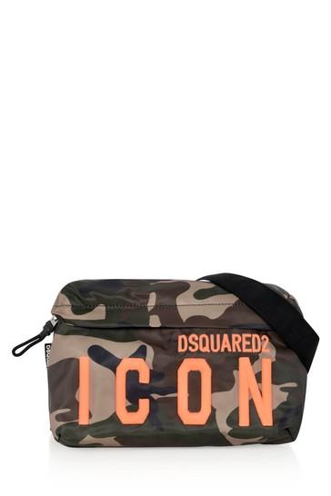 Kids Green Camouflage Belt Bag