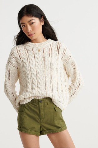 Superdry Layla Open Cable Knit Jumper