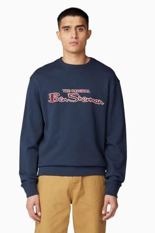 Ben Sherman Navy Signature Logo Sweater