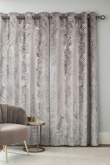 Palm Velvet Warm Silver Made to Measure Curtains