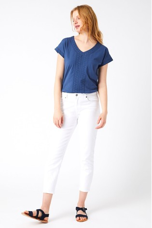White Stuff White White Denim Crop Trouser