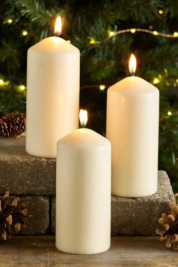 Set of 3 Pillar Candles