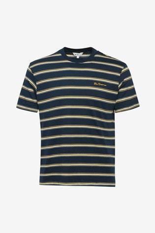 Ben Sherman Navy Vintage Stripe T-Shirt