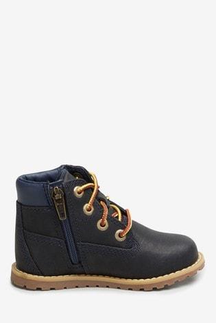 Timberland Navy Pokey Pine 6 Inch Boots
