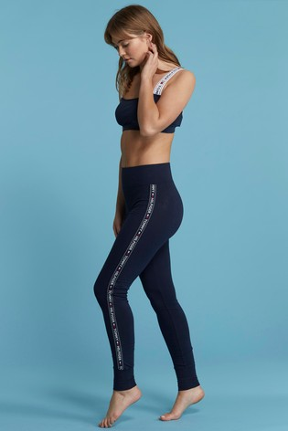 Tommy Hilfiger Blue Logo Lined Legging