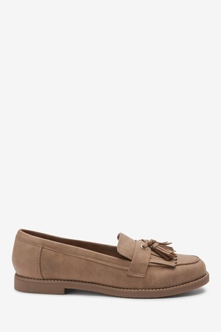Tan Crepe Sole Loafers