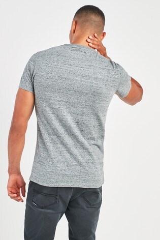 Superdry Grey Orange Label Vintage Embossed T-Shirt