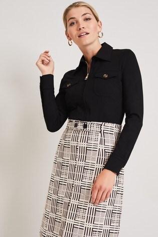 Damsel In A Dress Black Kadie Top