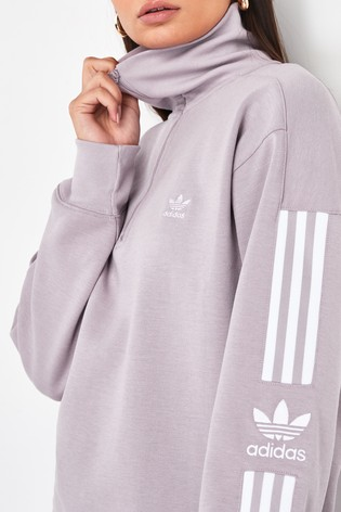 adidas Originals Lilac Lock Up 14 Zip Sweater