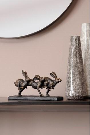 Libra Running Hares Sculpture