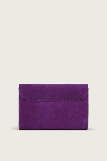L.K.Bennett Purple Danni Clutch Bag