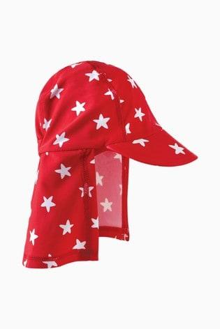 Frugi Oeko Tex Legionnaires Style Swim Hat In Red Spot