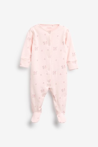 Pink Spot 7 Pack Sleepsuits (0-2yrs)