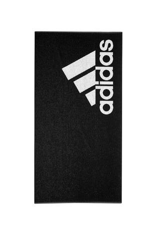 adidas Black Logo Towel