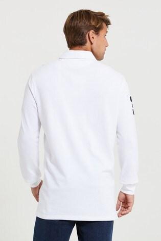 U.S. Polo Assn. Blue Classic Long Sleeve Rugby Shirt