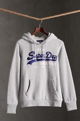 Superdry Vintage Logo Duo Satin Loopback Hoody