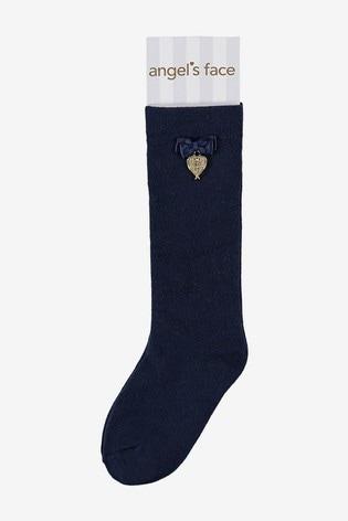 Angel's Face Blue Charming Socks