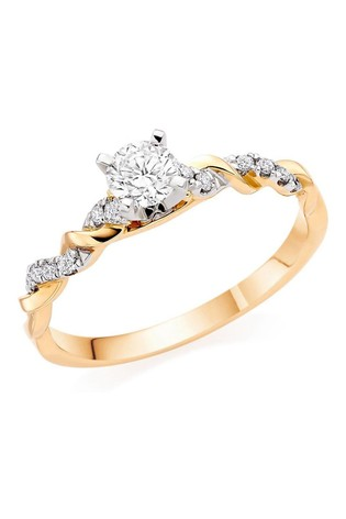 Beaverbrooks Entwine 18ct Diamond Solitaire Ring
