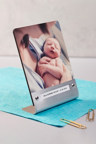 Personalised Photo Upload Metal Photo Frame by Oakdene Designs