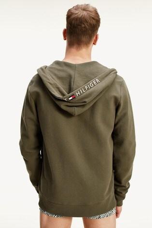 Tommy Hilfiger Green Full Zip Loungewear Hoody