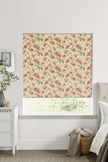 Laura Ashley Red Gosford Cranberry Made to Measure Roman Blind