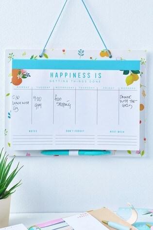 Floral Weekly Planner