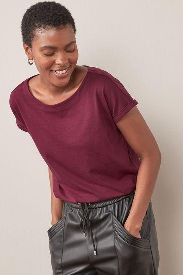 Berry Red Cap Sleeve T-Shirt