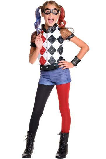 Rubies Deluxe Harley Quinn Fancy Dress Costume