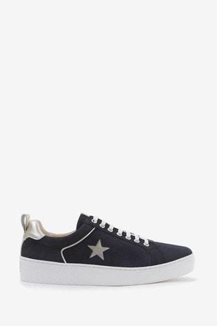 Mint Velvet Dulcie Navy Star Trainers
