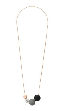 Oliver Bonas Gold Tone Boca Multi Bead Necklace