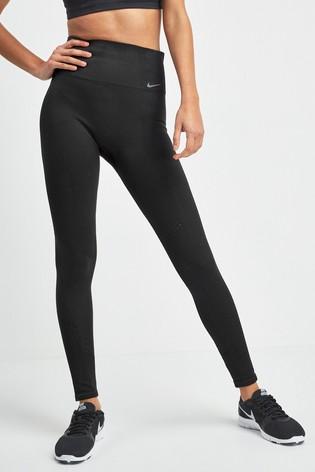Nike Studio Dri FIT Power Black Seamless Training Leggings