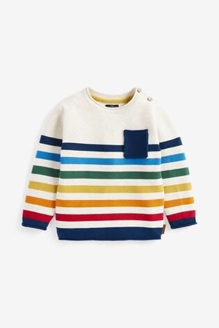 Rainbow Stripe Jumper (3mths-7yrs)