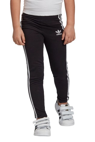 adidas Originals Little Kids Black 3 Stripe Leggings