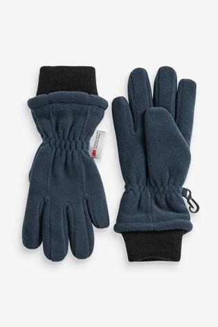 Navy Fleece Gloves (Older)