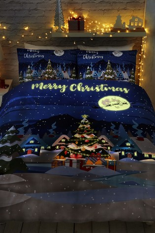 Glow In The Dark Duvet Cover and Pillowcase Set by Bedlam
